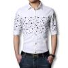 новых людей льняной рубашки короткие рукава 2016 моды слим мужчин хлопчатобумажные рубашки включен плюс размер 6xl белый черное платье, случайные люди рубашки рубашки
