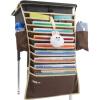 Превосходный и превосходный (UHOO) 6510 студентов висит книжный мешок кофе 64 * 43см настольные книжные шкафы