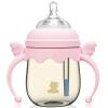 Маленький белый медведь  рожок для новорожденного ребенка PPSU 260ml розовый 09383 маленький белый медведь стандартный детский рожок ppsu 200 мл 09396