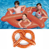 MyMei  Inflatable Swim Ring Fun Bite Shape Donut Swimming Pool Water Float Raft YW environmentally friendly pvc inflatable shell water floating row of a variety of swimming pearl shell swimming ring