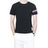 Хлопок мужчины футболки 2016 лето мужчины свободного покроя футболки тонкий подходит черный белый короткими рукавами Мужская мода хлопок футболки Размер 3XL содрали