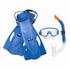 Bestway Scuba Diving Snorkelling Set Оборудование для подводного плавания (для очков + плавников + плавников, взрослых и подростков в возрасте старше 14 лет) 25020 Blue scubapro crystal vu mask for scuba snorkelling diving water sports