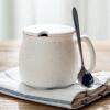[Супермаркет] Jingdong творческая душа фарфора керамическая кружка любителей чашка завтрак молоко чашка кофе крышка с ложкой чашка офиса чашки воды Человек Тяньсина кружка птичье молоко