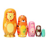 MyMei 2016Cute Wooden Nesting Dolls Matryoshka Animal Russian Doll Paint Gift 5Pcs/Set