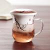 [Супермаркет] Jingdong Юна Тан Слиток костяного фарфор чашка офис чашка прозрачное синее стекло