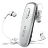 QCY J02S Бизнес Bluetooth гарнитура Bluetooth 4.1 Беспроводная гарнитура Универсальный уха серебро jbl duet bt беспроводная bluetooth гарнитура беспроводная гарнитура гарнитура белый серебро