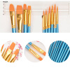 MyMei Artist Paint Brushes Set Art Painting Supplies and Oil Painting 10pcs New 24 colors kid crayon oil pastel drawing set count box round shape soft graffiti children artist school supplies starter kit