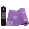 Peele Yoga PVC6MM Отпечатанный Anti-slip Yoga Mat Фиолетовый с рюкзаком yoga mat