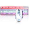 -Benz (Sades) набор крыла Feng Фильмы флэш игрового автомат клавиатура и мыши набор компьютерной периферии излучающей металл макро джедай выживание Royale цыпленок (белый свет смешивается с синей осью) набор eleaf ikiss 220 mah автомат стальной