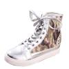 Женщины шипованных High Sneaker Узелок Лифт обувь Rivet Скрытые клин пятки ботинка кир булычев клин клином