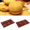 Новый 2.5 Dia Половина Бал Sphere Десерт торт Маффин Кондитерские изделия Желе силиконовые формы