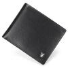 Мульти Playboy плейбой мужчин короткий кожаный бумажник многофункциональный бумажник карты немного сечение коровы кожаный бумажник мужской черный PAA2303-6B
