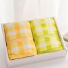 цены на Jingdong [супермаркет] Jie Я. (Grace) конфеты цветных текстильного полотенце впитывающего полотенце подарочная коробка установлена два зеленый / синего 85g / Статья 68 * 32см в интернет-магазинах