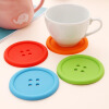 цена на MyMei Beauty Silicone Coffee Placemat Button Coaster Cup Glass Beverage Holder Pad Mat