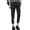 Мэн Траск (шведские кроны) NZK3638 Мужчины и нога Pomo джинсы корейских Тонкие колготки черные XXL