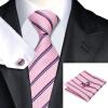 N-0212 Vogue Мужчины шелковый галстук Комплект Галстук носового платка Запонки Галстуки Набор для мужчин формальной свадьбы Бизнес оптом