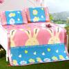 Джиужоу оленей мат текстильной печати шелк льда коврик из трех частей складная двуспальная кровать спальный коврик коврик коврик розовый кролик 1,5 м кровать