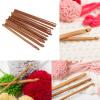 12 Размер Бамбуковой Ручкой Крючок Для Вязания Пряжа Ремесло Спицы Комплект Новый