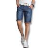мужчины деним шорты, прибывающих людей моды шорты 2016 летом голубой мужчин джинсы шорты случайные слим подходит плюс размер шорты 38 горячая продажи