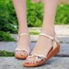 Мода Женщины шутника сандалии стелька Женская обувь Интернет летняя обувь