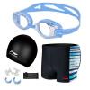 Li Ning LI-NING универсальные плавательные купальники купальники купальники 5 комплектов модных высококачественных плавательных брюк плавательные очки для плавания Cap LSJK666-1 голубой XXL купальники