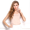 Шифон летом Женщины Блузы Слинг O-образным вырезом Сыпучие Большой размер Жилет Блуза блузы