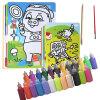 Оу Руи непослушные игроки песок картина ручной работы DIY набор 50 24 цвет зеленый цвет детей песок картина ручной росписи детские игрушки (старые и новые упаковки смешанных волос)