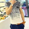 Мужская мода o-образным вырезом с коротким рукавом хлопок T-рубашка с коротким рукавом рубашка мужская o b o s o c093