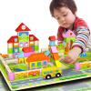 Ming Ting (MING TA) MTW-013-3 128 детский сад строительные блоки деревянные деревянные раннее образование головоломка детские головоломки интеллектуальные игрушки строительные блоки игрушки германия hape boys rattles 0 1 года детские игрушки детские игрушки детские головоломки раннее образование