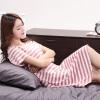 Г-ж Бейджи Ронг печати Nightdress пижама женская ночная рубашка сексуальных пижамы женская сплошной цвета хлопок пижама женские B541106512-5 зеленые полосы XL