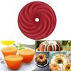 Красный Большой Спиральная форма кекса Хлеб Шоколад для выпечки Силиконовые Mold cntomlv 1pcs кухонная техника для выпечки diy white plastic dumpling mold maker тестовое прессование пельменей 19 отверстий пельме