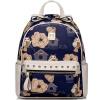JUST STAR (JUST STAR) tide fashion punk заклепки ударил цвет прекрасный рюкзак рюкзак Британский футбольную сумку 170946-06 индиго