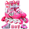 Трек обувь полный набор Пумы детские коньки роликовые коньки роликовые коньки код Kung Fu Panda MZS757 розовый M код роликовые коньки в ясенево
