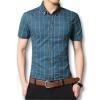 новых людей в рубашки летом 2016 мужчин модельеров рубашки короткие рукава одежды случайно рубашки хлопок плюс размер m-5xl слим подходит рубашки