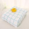 WELLBER (WELLBER) baby элегантный ya цвет 6 слой мыть марля полотенце светло-голубой сетка 115 * 115cm wellber пеленка для новорождённых 80 80 см
