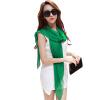 (MSEK) WSJ161676 Женский шарф Корейский долгосрочный платок пляжный полотенце шарф двойного назначения женский шарф фрукты зеленый