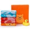 Jingdong [супермаркет] Jie Я. (Грейс) полотенце текстильного хлопок детского мультфильма животные шаблона хлопок впитывающего полотенце мыть полотенце мило шесть загружен 50 * 25см