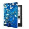 Van Gogh Design leather cover case Lighted Slim Leather Cover for 2014 kobo aura h2o 6.8'' ereader smart cover case настенные фотокартины van gogh fruit df 218