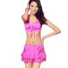 Pu Andi (puandy) горячий источник купальник женский раскол юбка стиль купальник небольшой груди сейсмограммы был тонкий купальник PWB03 Rose XXL