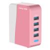 Сетевое зарядное устройство Meiyi USB / 4 зарядное устройство / адаптер MY-501 Pink Portable Universal зарядное устройство зарядное устройство сетевое qtek s200 htc p3300 ainy 1a