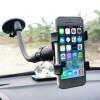 360 ° Вращение Автомобильный держатель лобовое стекло Кронштейн для GPS мобильного телефона Black