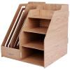 Deli 9842 Ручная сборка / комбинация из фибрового картона Многофункциональный файловый ящик / корзина для файлов / держатель для документов