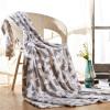 Ю. Тонг хлопок фланель одеяло коралловые ковер субофис ворс одеяло одеяла красный кленовый лист 127 * 178см все цены