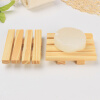 MyMei Natural Wood Tray Holder Bath Shower Plate Bathroom DIY Wooden Soap Dish Storage