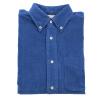 BIIFREE синиймужские рубашки с длинными рукавами вельвет 100% хлопок мужские рубашки с длинными рукавами