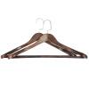 установлен [супермаркет] Jingdong довольно твердые деревянные вешалки роскоши вешалки мировых мужские большие стеллажи два QTX8322