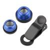 Горячий 3 В 1 Зажим объектива камеры Рыбий глаз Широкоугольный Макро Набор для смарт-телефона