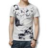 Футболки мужские футболки 2016 лето мужчины футболки с коротким рукавом белье хлопок Моды для мужчин печатных T рубашки повседневные тонкий подходит горячая Продажа