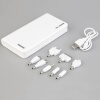 50000mAh внешних банка мощность LED двойной USB зарядное устройство для мобильных телефонов белый зарядное устройство duracell cef14 аккумуляторы 2 х aa2500 mah 2 х aaa850 mah