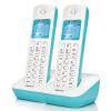 Оригинальный бренд Siemens Gigaset телефоны A190L цифровые беспроводные телефоны руки-свободный автономных китайских экран двойного подсветки дисплея домашнего офиса Стационарных машин изображений (White Rock)